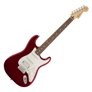 Fender Standard Stratocaster HSS Electric Guitar, PW, Candy Apple Red