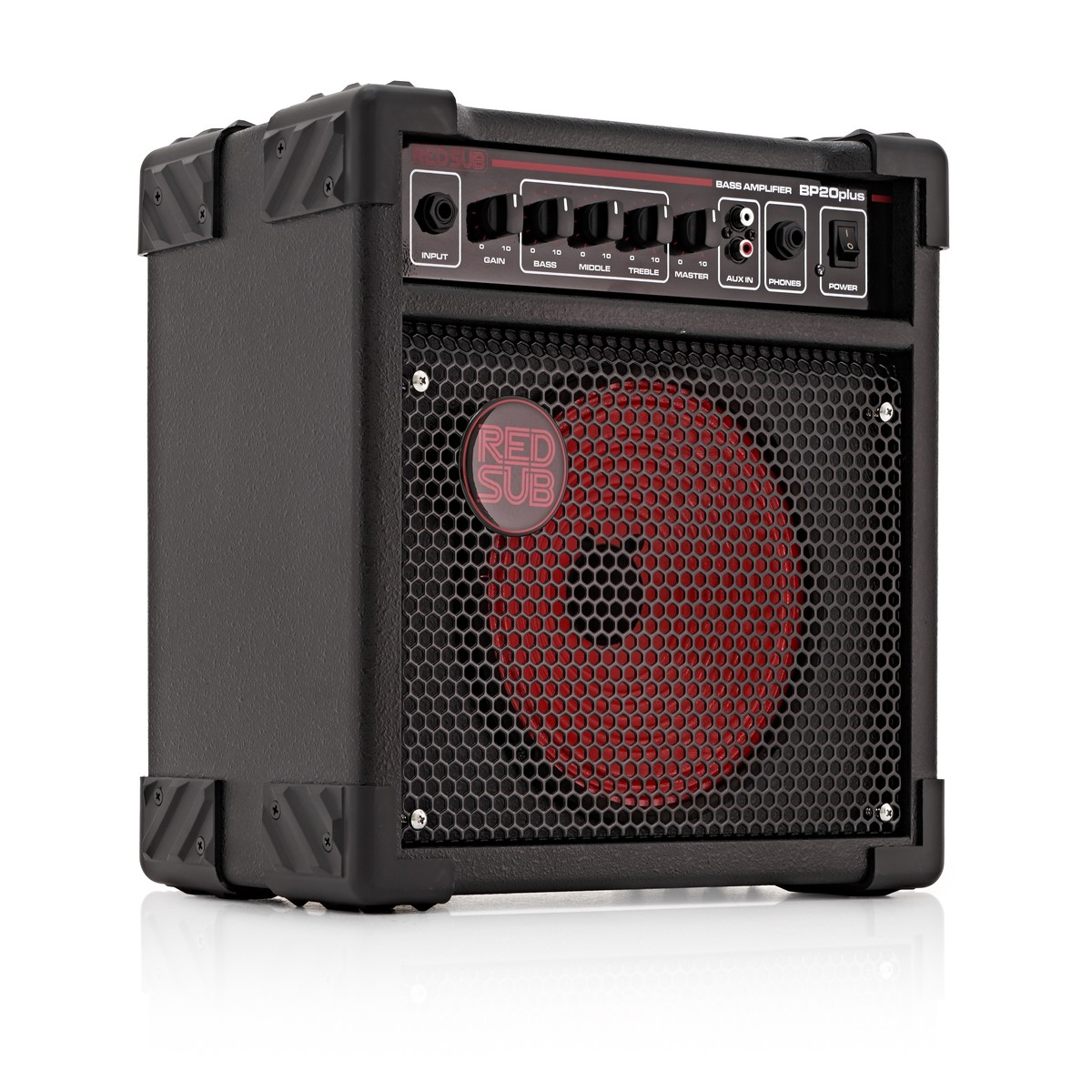 redsub bp20plus 20w bass guitar amplifier at gear4music. Black Bedroom Furniture Sets. Home Design Ideas