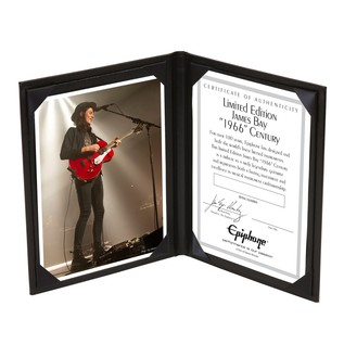 Epiphone Ltd Ed James Bay Certificate
