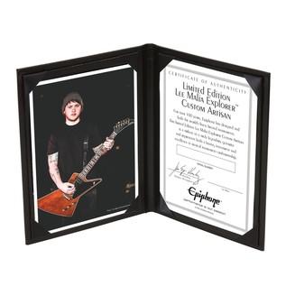 Epiphone Ltd Ed. Lee Malia Certificate