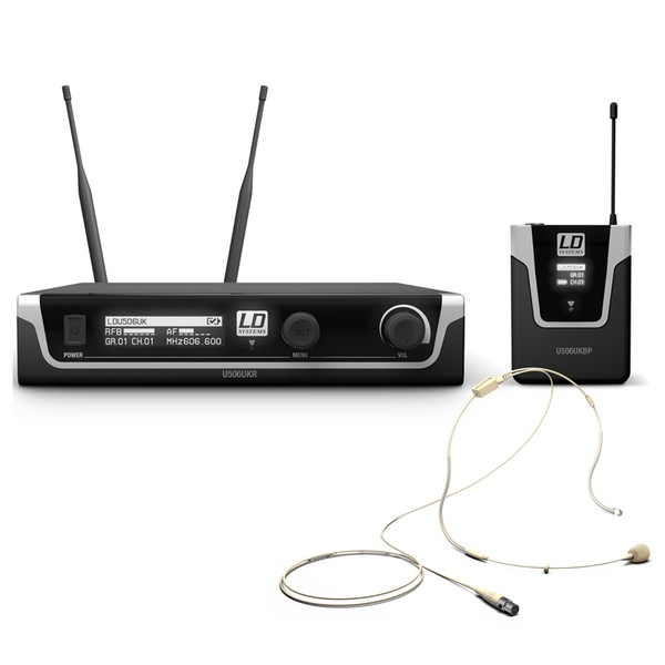 LD Systems 506 BPHH Wireless System With Bodypack and Headset (Beige)