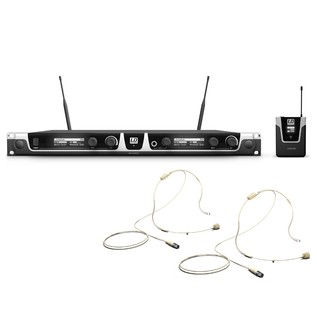 LD Systems BPHH2 Wireless System With 2 x Bodypack and 2 x Headset, Beige