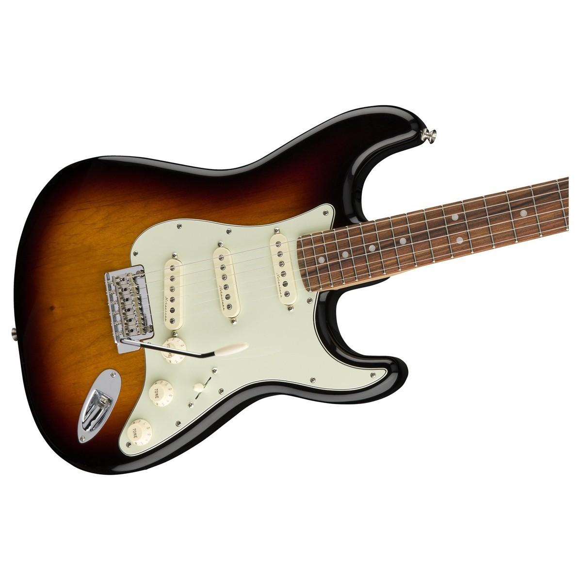 Fender       Deluxe       Roadhouse    Stratocaster  Pau Ferro  3 Tone