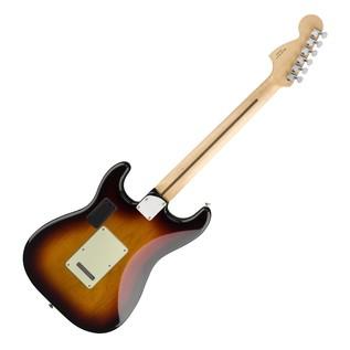Fender Deluxe Roadhouse Stratocaster, Pau Ferro, 3 Tone Sunburst rear view
