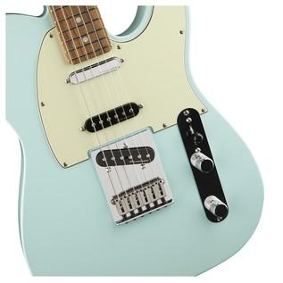 Fender Deluxe Nashville Telecaster Electric Guitar, PF, Daphne Blue pickups