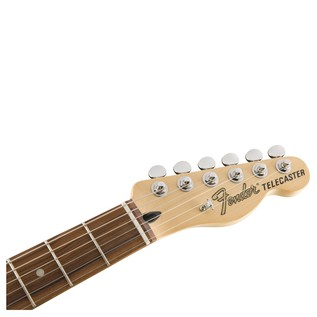 Fender Deluxe Nashville Telecaster Electric Guitar, PF, Daphne Blue headstock
