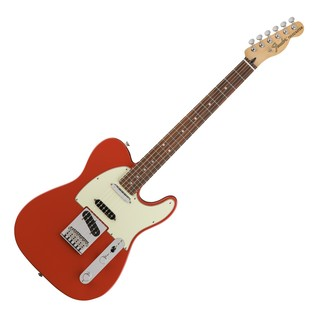 Fender Deluxe Nashville Telecaster Electric Guitar, PF, Fiesta Red