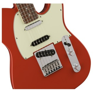 Fender Deluxe Nashville Telecaster Electric Guitar, PF, Fiesta Red pickups