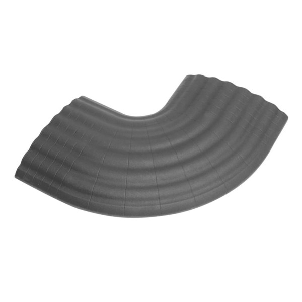 Defender 90-Degree Curve for Defender Office Cable Duct, Grey