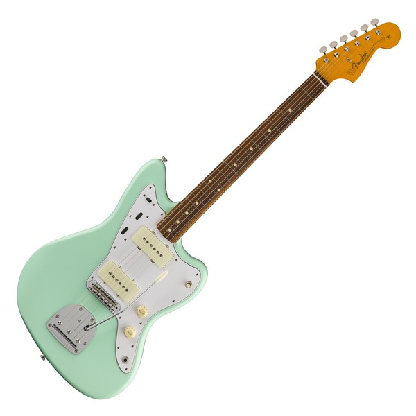 Fender 60s Jazzmaster Lacquer Electric Guitar, Pau Ferro, Surf Green