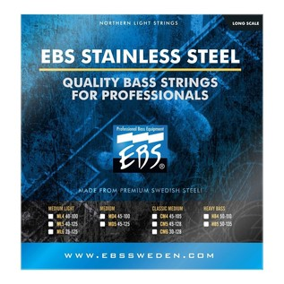 EBS EBS0082-B1 Northern Light Stainless-Steel 5 Bass Strings, Medium