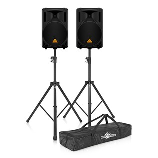 Behringer B212D Active PA Speakers with Free Stands and Bag