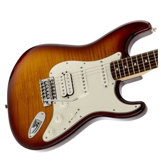 Fender Standard Stratocaster HSS Plus Top, PW, Tobacco Sunburst