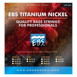 EBS Northern Light LC Titanium Nickel 6 Bass Strings, Medium Light