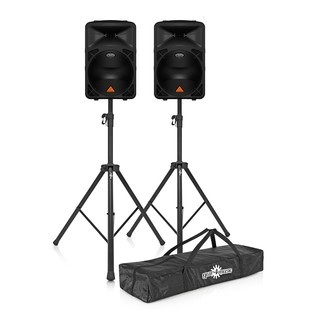 Behringer B615D Active PA Speakers with Free Stands and Bag