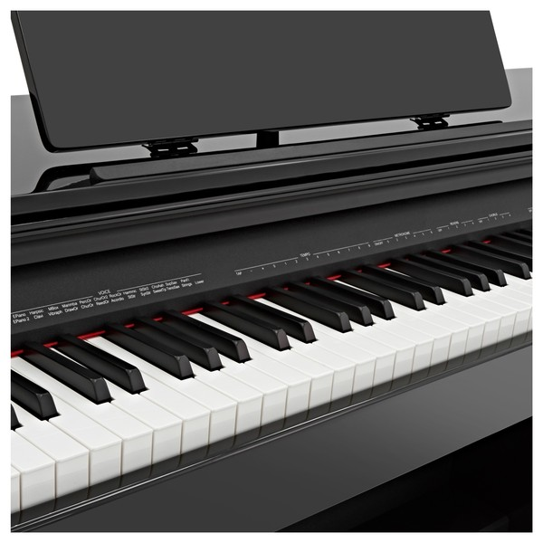 DP-10plus Digital Piano by Gear4music, Gloss Black