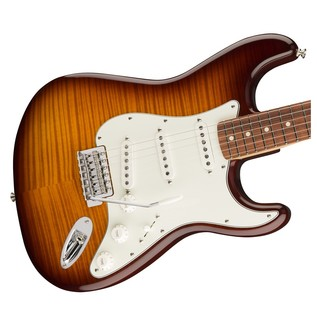 Fender Standard Stratocaster, Plus Top, Pau Ferro, Tobacco Sunburst Right