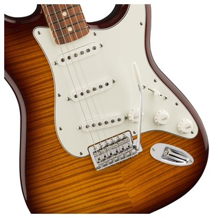 Fender Standard Stratocaster, Plus Top, Pau Ferro, Tobacco Sunburst Controls