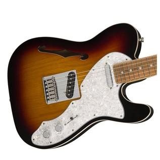 Fender Deluxe Telecaster Thinline, Pau Ferro, 3-Tone Sunburst Body