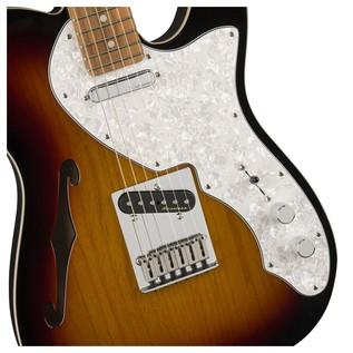 Fender Deluxe Telecaster Thinline, Pau Ferro, 3-Tone Sunburst Controls
