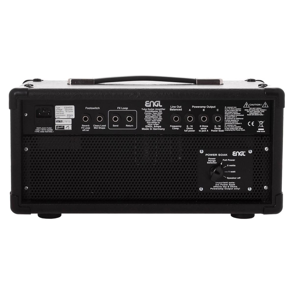 engl metalmaster e309 guitar amplifier head at gear4music com rh gear4music com Guitar Input Jack Wiring Mono Guitar Output Jack Wiring Active