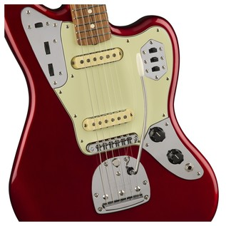 Fender Jaguar Classic Player Guitar, Pau Ferro, Candy Apple Red Controls