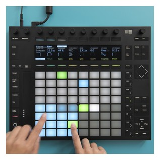 Ableton Push 2 in use