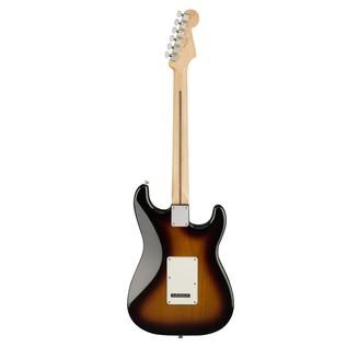 Fender Standard Stratocaster LH Electric Guitar, PW, Brown Sunburst