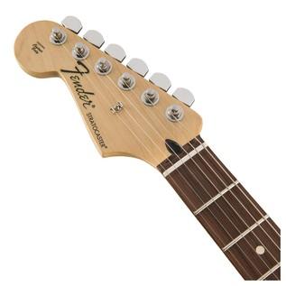 Fender Standard Stratocaster LH Electric Guitar, PW, Brown Sunburst Headstock