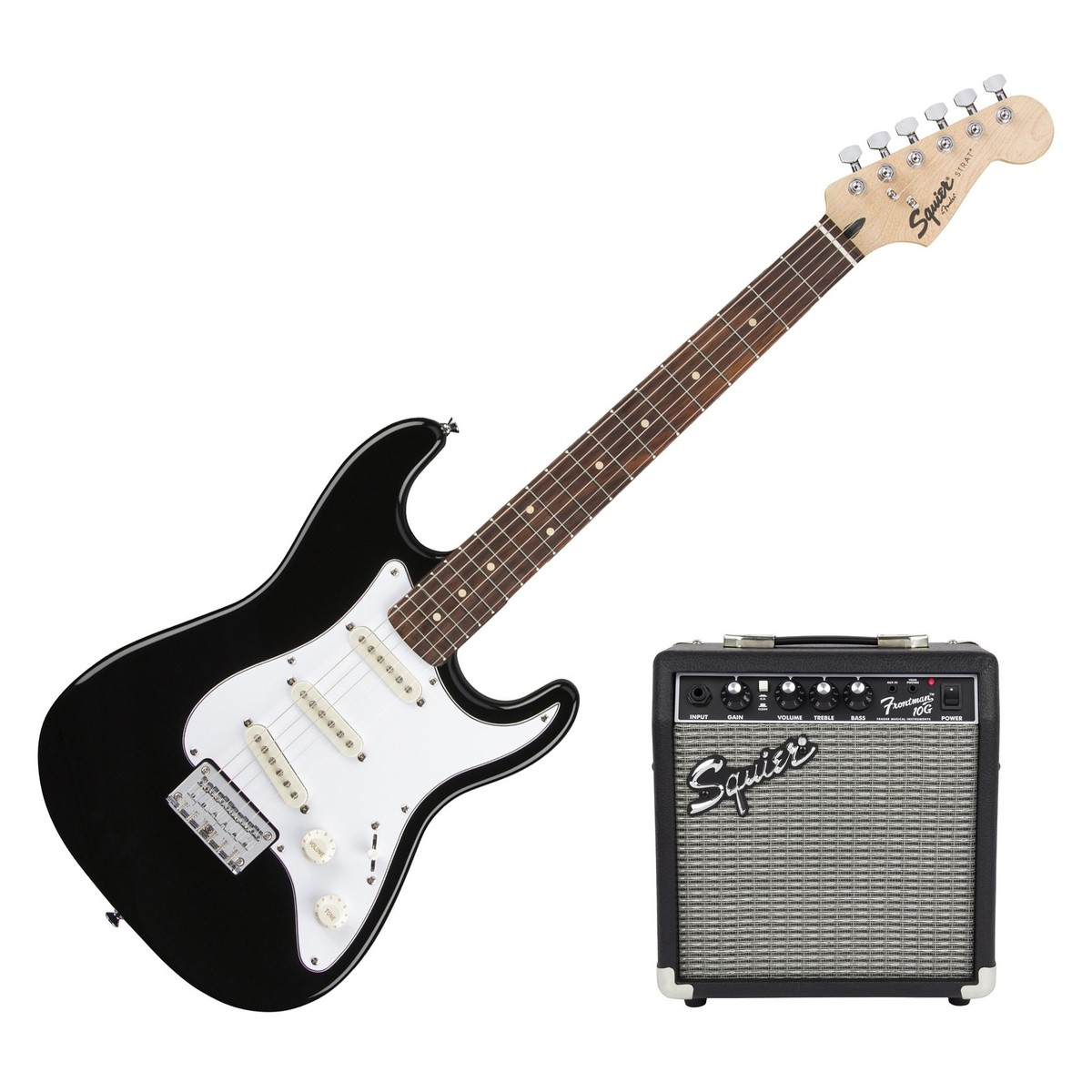 fender squier strat pack ss short scale electric guitar pack black b stock at gear4music. Black Bedroom Furniture Sets. Home Design Ideas