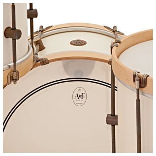 A&F Drum Co. 3pc Field Maple Shell Pack, Antique White