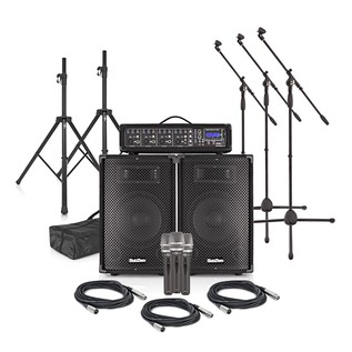 SubZero SZPA-410 120W PA System with Microphones and Stands