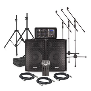 SubZero SZPA-612 250W PA System with Microphones and Stands