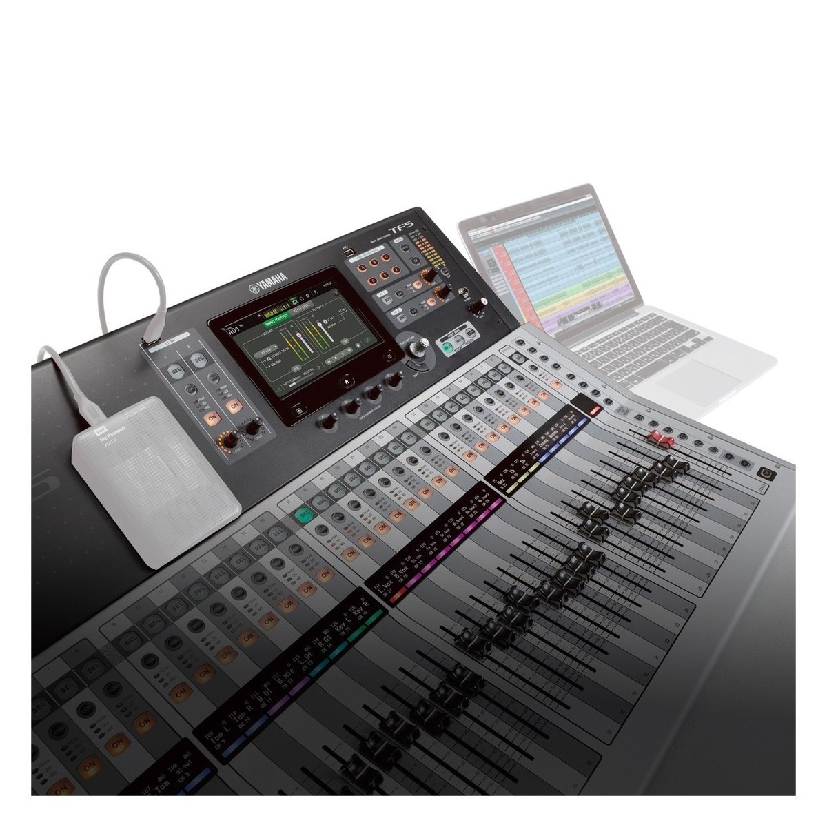 yamaha touchflow tf5 32 channel digital mixer with case at. Black Bedroom Furniture Sets. Home Design Ideas