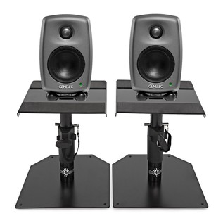 Genelec 8010A Studio Monitors With Stands