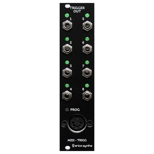 Erica Synths MIDI to Trigger Module - Front