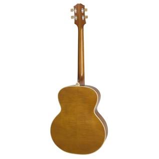 Epiphone De Luxe Classic Acoustic Electric Bass, Vintage Natural Back View