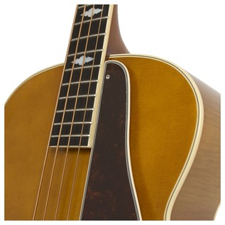 Epiphone De Luxe Classic Acoustic Electric Bass, Vintage Natural Neck Joint