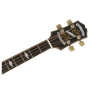 Epiphone De Luxe Classic Acoustic Electric Bass, Vintage Natural Neck View