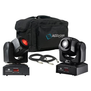 ADJ Inno Pocket Spot LED Moving Head Pair with Free Bag and Cable