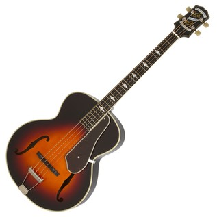 Epiphone De Luxe Classic Acoustic Electric Bass, Vintage Sunburst Full Bass