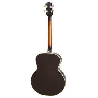 Epiphone De Luxe Classic Acoustic Electric Bass, Vintage Sunburst Back View