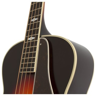Epiphone De Luxe Classic Acoustic Electric Bass, Vintage Sunburst Neck Joint