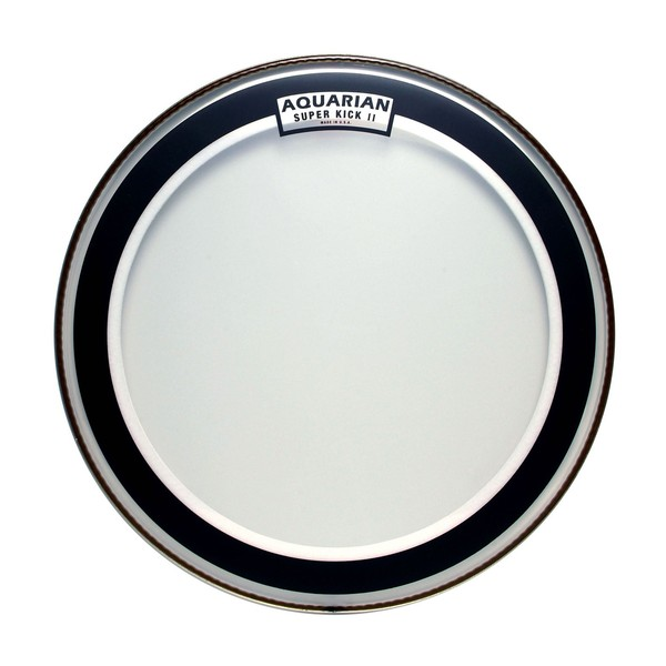 Aquarian Clear Two Ply 18'' Bass Drum Head with Superkick Ring