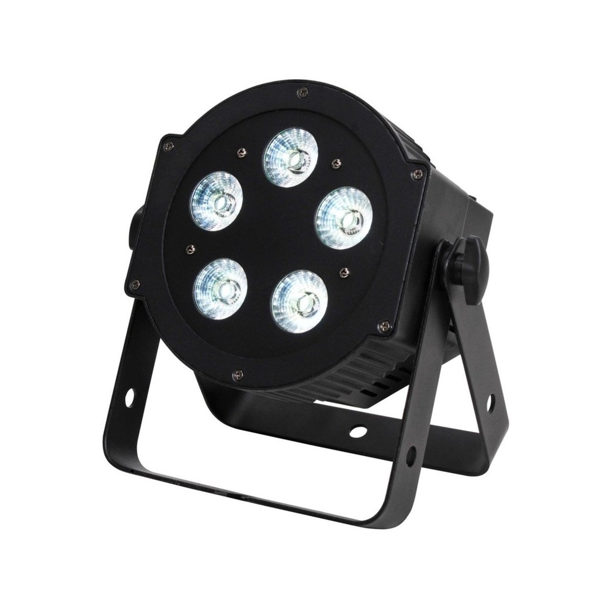 adj 5p hex led par can 4 pack with bag and cables at gear4music