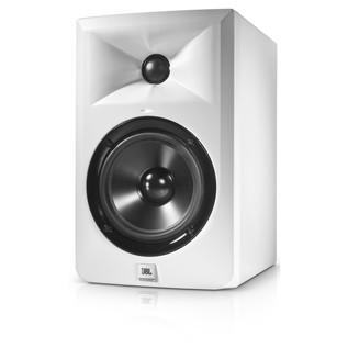 JBL LSR305 Studio Monitor, White - Angled 2