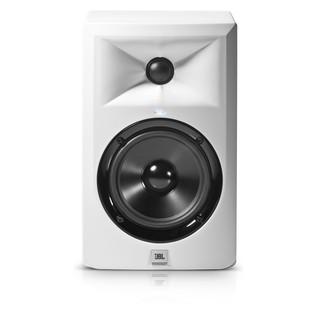 JBL LSR305 Studio Monitor, White - Front