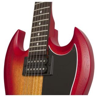 Epiphone SG Special VE Electric Guitar, Heritage Cherry Sunburst Neck Joint