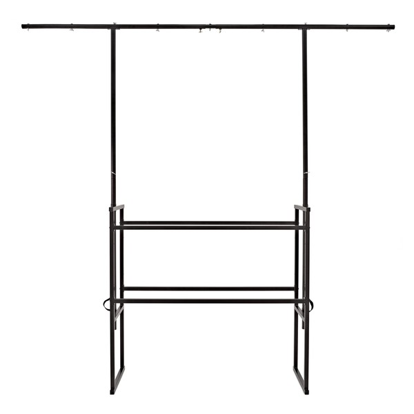Mobile DJ Stand with Lighting Bar by Gear4music
