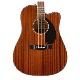 Fender CD-60SCE Mahogany Dreadnought Electro Acoustic Guitar, Natural Close